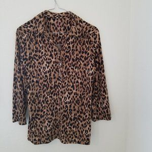 Women's Leopard Print Button Down